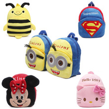 Buy New cute kids school bag cartoon mini plush backpack toy kindergarten boy girl baby Children's gift student lovely schoolbag for $4.28 in AliExpress store