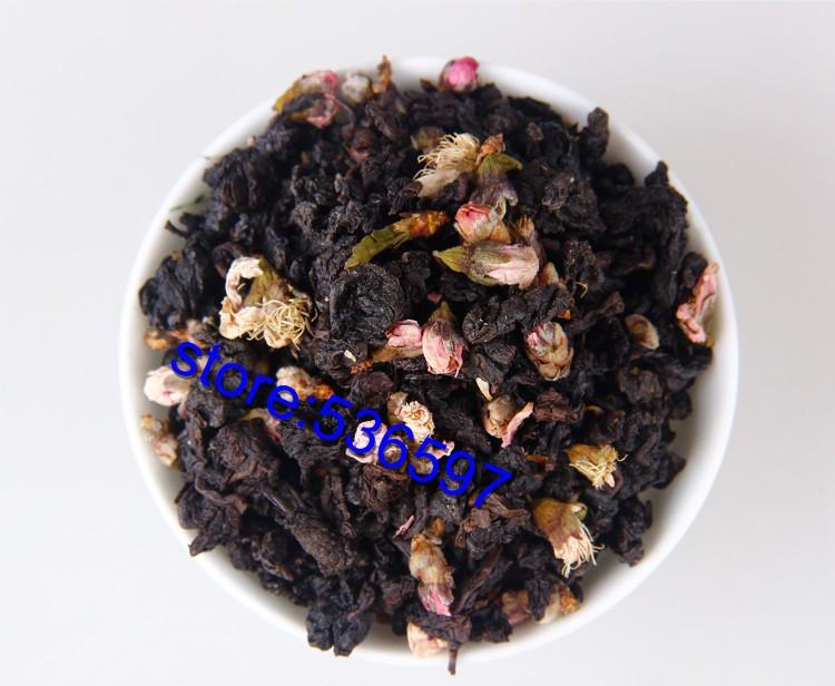 peach flower+taiwang oolong herb tea health beauty organic natural flower Triangle tea bags 6 kinds of  taste free shipping