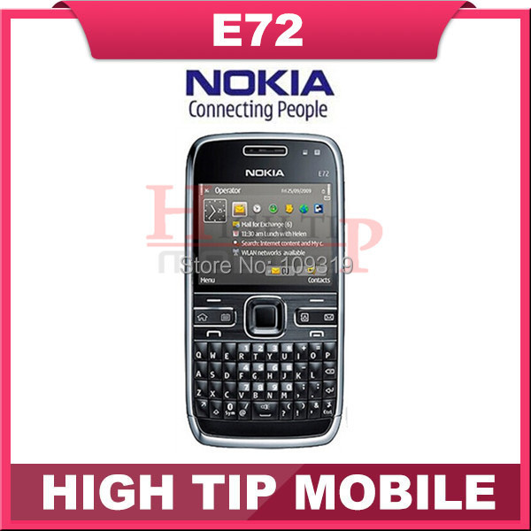 Nokia Unlocked original mobile phone E72 with 5.0MP camera GPS WIFI qwerty keyboard Refurbished Free shipping 1 year warranty(China (Mainland))