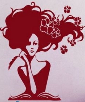 Hair Salon Vinyl Wall Decal Sexy Girl Long Hair Spa Beauty Salon Relaxation Mural Wall Sticker Hair Shop Decorative Decoration(China (Mainland))