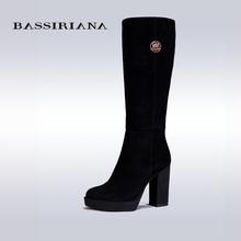BASSIRIANA Más El Tamaño 35-40 Moda de Invierno Nueva Llegada Mujeres Botas de Mitad de la Pantorrilla Pisos Negros Zapatos de Tacón Medio Botas otoño Zapatos de la Nieve(China (Mainland))