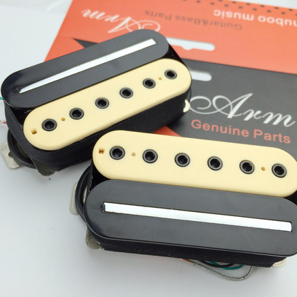 Black yellow Double coil electric guitar pickups(China (Mainland))