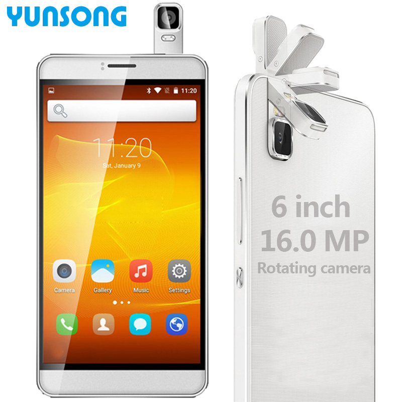 YUNSONG 6 inch Original YS8pro 16.0MP Rotating camera Smartphone telephone Quad Core Dual Sim Cell Phone celulares Mobile Phone(China (Mainland))