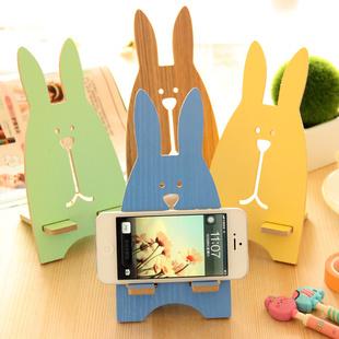 Гаджет  Novelty Multicolor Prison Rabbit Wooden Mobile Phone Holder Bracket Mobile Phone Stand Retail/Wholesale None Телефоны и Телекоммуникации