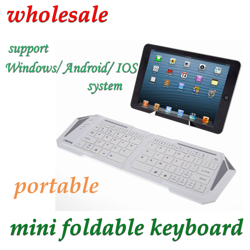 Unique Foldable 2.4G wireless keyboard for IOS/Android/Windows devices rechargeable mini universal Palm keyboard 10 PCS/LOT(China (Mainland))