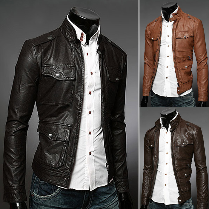 Compare Prices on Brown Leather Jackets Men- Online Shopping/Buy