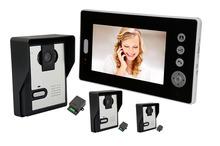 Buy 7Inch 2.4Ghz Wireless Intercom Video Door Phone Three Outdoor Camera for $304.00 in AliExpress store