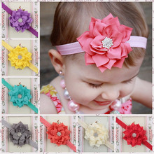 Fashion Baby Girl Headbands Cute Peony flower Hair Bands Baby Cloth Headband Elasticity Headwear hair accessories