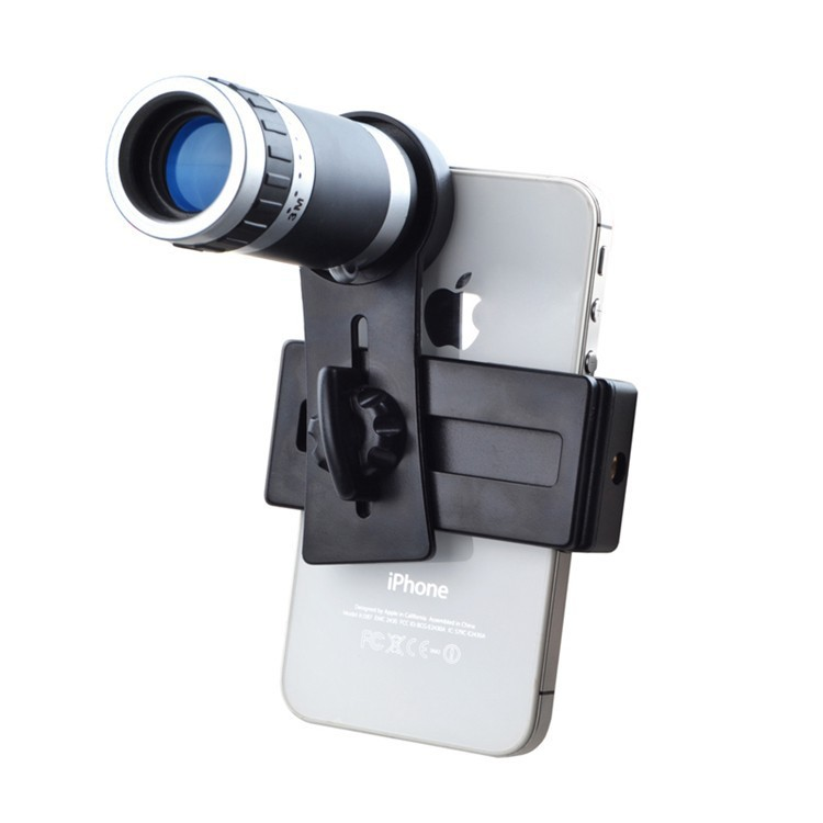 Mobile Phone Lens Universal 8X Zoom Telescope Camera Telephoto Lenses for iPhone 4 4S 5 5C 5S 6 Plus Samsung Galaxy S3 S5 Note 4(China (Mainland))