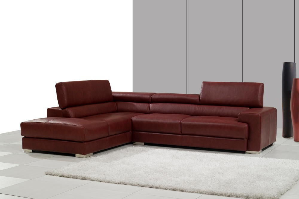 2015 sofa set for living room modern couch set corner leather sofa set with L shape # 8016(China (Mainland))
