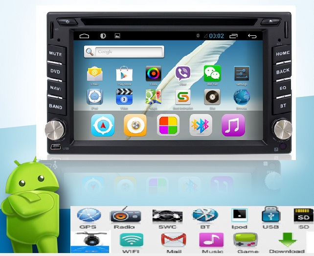 4.2 Android Car DVD Stereo camera 2GHZ dual-Core Capacitive Double 2 Din Car PC CD GPS BT WiFi 3G CAMERA Radio iPod HD Parking(China (Mainland))