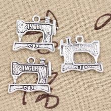 Buy 20pcs Charms sewing machine 20*17mm Antique pendant fit,Vintage Tibetan Silver,DIY bracelet necklace for $1.83 in AliExpress store