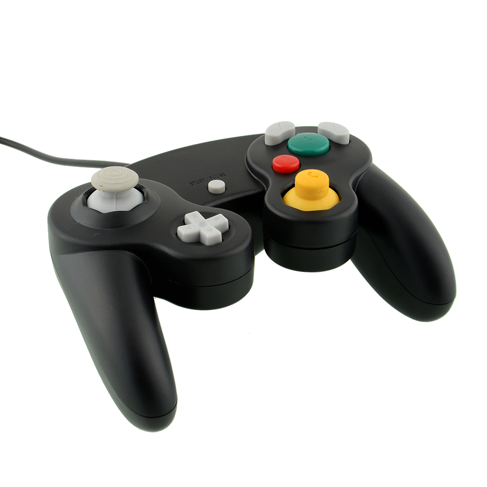Hot New Arrival Video GamePad Joypad Controller Wired Black For Nintendo Wii GameCube For Nintendo Console(China (Mainland))