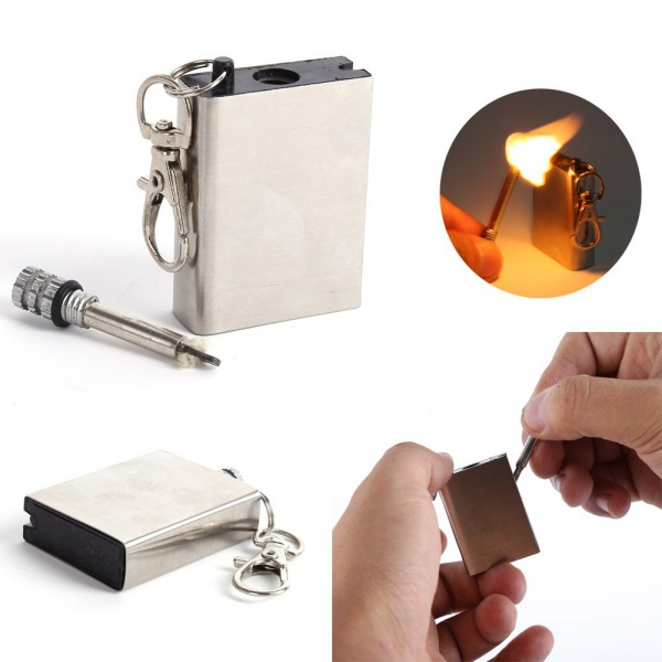 10000 time Metal match Fire starter tool flint stone lighter gas oil magnesium outdoor survive camp hike free shipping(China (Mainland))