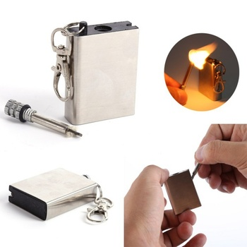 10000 time Metal match Fire starter tool flint stone lighter gas oil magnesium outdoor survive camp hike free shipping
