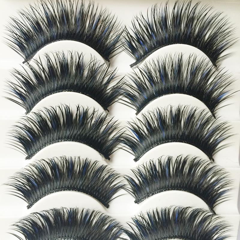 5 Pairs Handmade False Eye Lashes Thick False Eyelashes Makeup Tips Cosmetics Natural Long Fake Lashes Extension Cilios Posticos(China (Mainland))