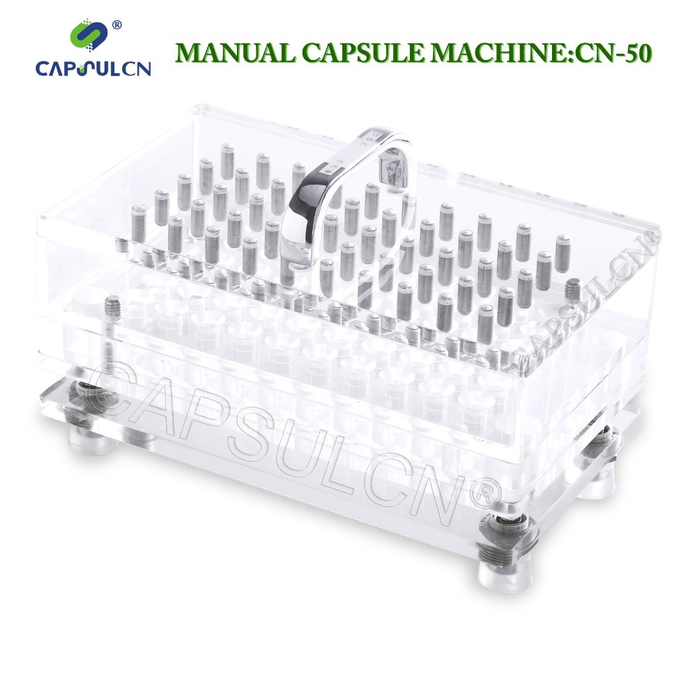 (50 holes) Size 0 high precision and high quality,capsule filler/encapsulator machine CN-50, suitable for the separated capsule(China (Mainland))