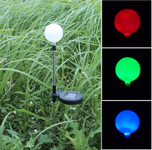Free Shipping colour changing solar ball lawn lights LED decoration solar garden light(China (Mainland))