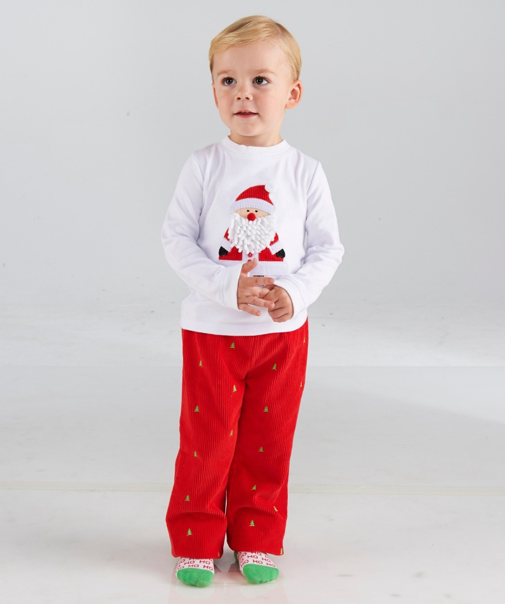 In the spring of 2015 children's wear the boys and girls Christmas two-piece to Europe and the United States for autumn(China (Mainland))