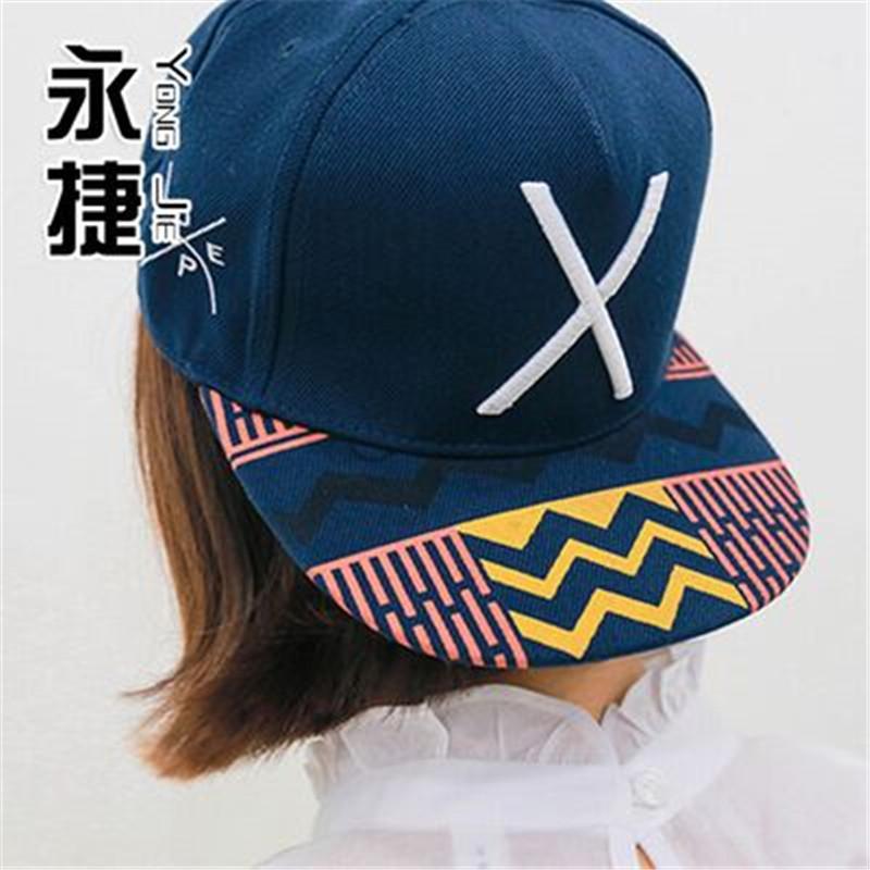 2016 Fashion hip-hop baseball cap snapback cap X street skateboard flat brimmed hat free shipping(China (Mainland))