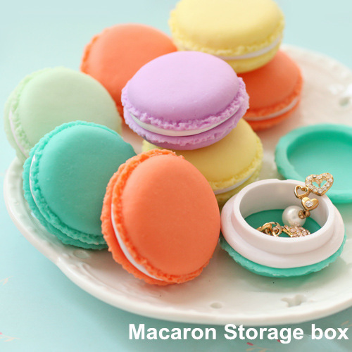 Macaron storage box organizer for jewelry Mini Candy Color 4 Colors(China (Mainland))