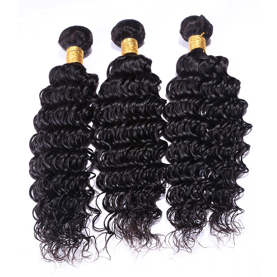 New product brazilian deep wave human hair brazilian virgin hair weave 2/3 pcs 10