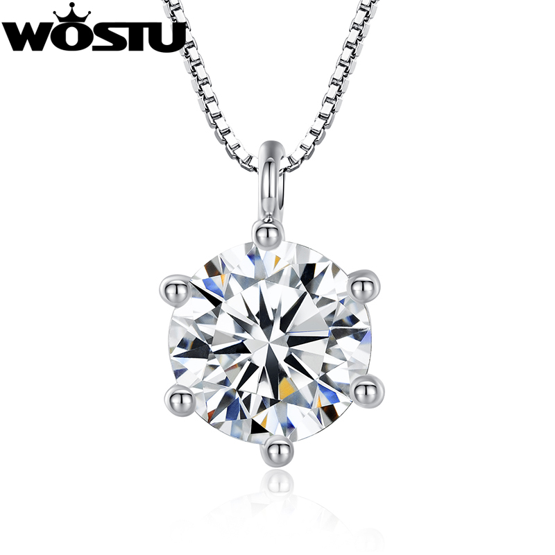 2016 Spring New Fashion Luxury Pendant Platinum Plated Necklaces for Women With AAAA Zircon Jewelry Free Gift Pouch(China (Mainland))