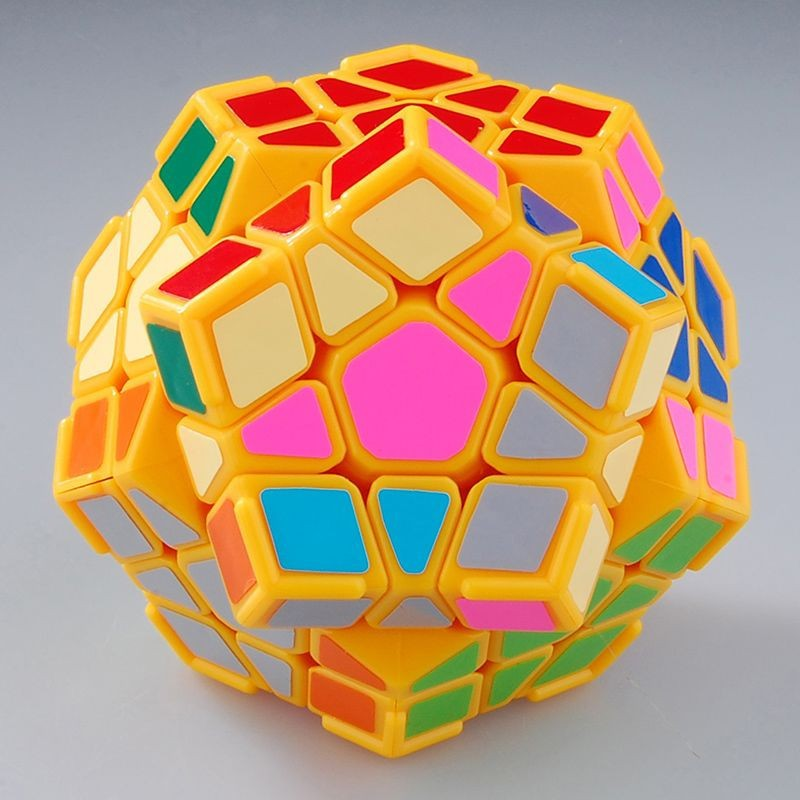 DaYan Megaminx I 12-axis Three-rank Dodecahedron Yellow with Nook Ridges Magic Dice Velocity Twisty Academic Puzzle Toy