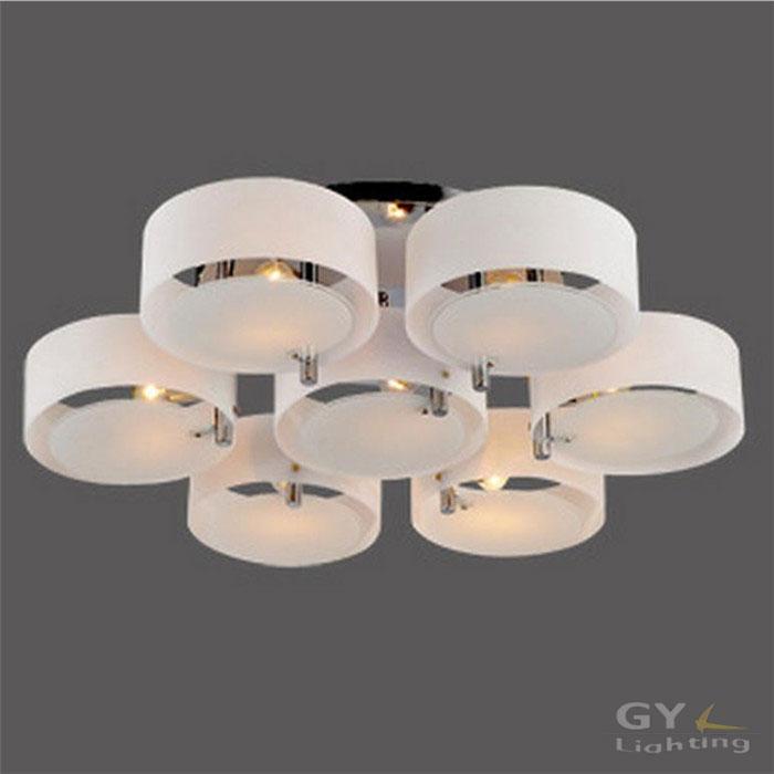 Loft led ceiling lamp modern minimalist living room lamp restaurant bedroom 3/5/7 round ring led ceiling lamp ramadan decoration(China (Mainland))