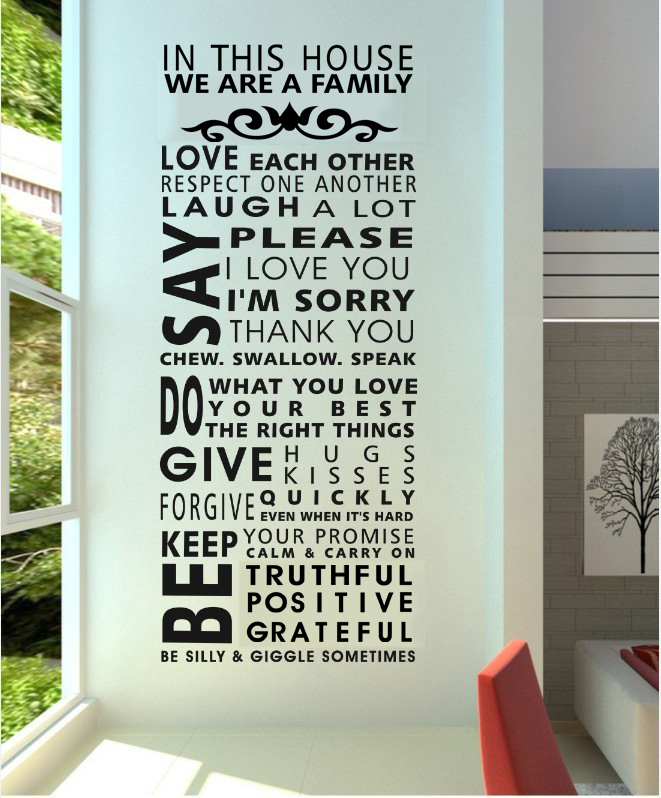Family House Rules Quotes Saying We Are A Family
