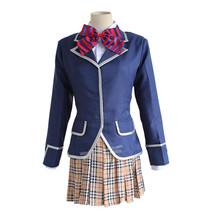 2016 Soma Yukihira Shokugeki no Soma Erina Nakiri Cosplay Costume JK School Uniform set(coat+skirt+bow)