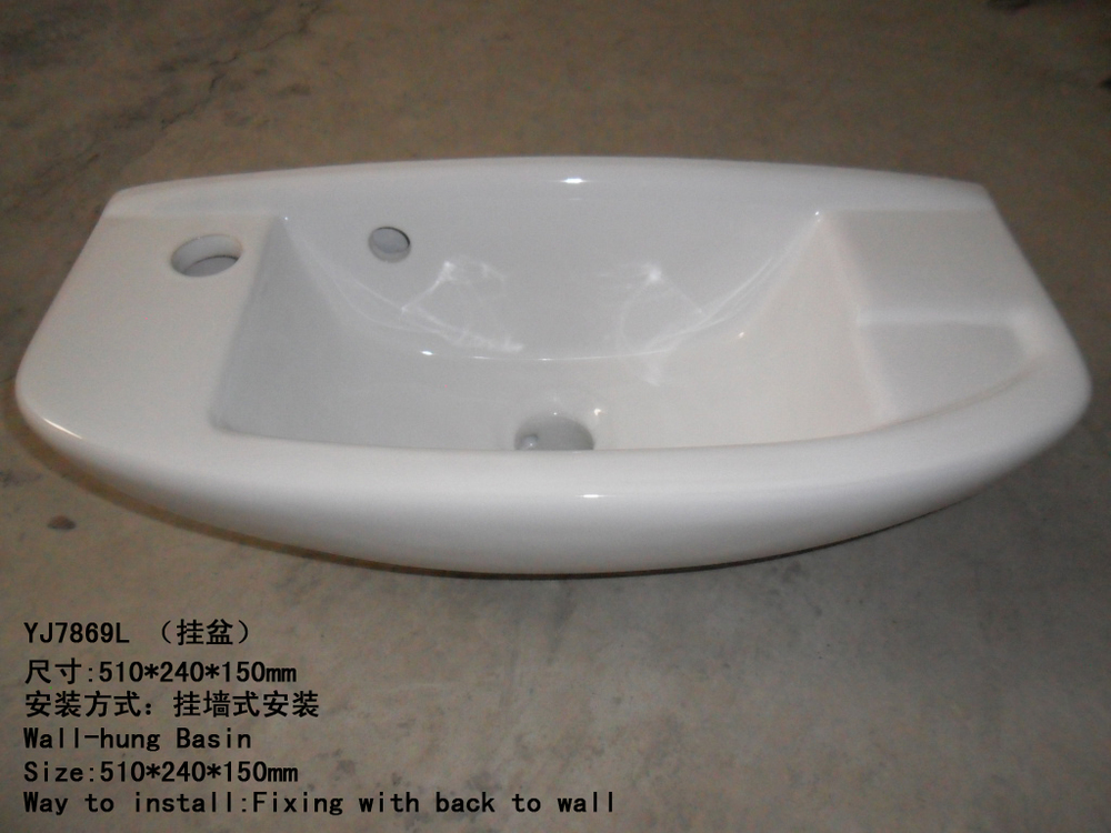 New European Style Basin Single Hole Bathroom Sink Ressel Sinks White .