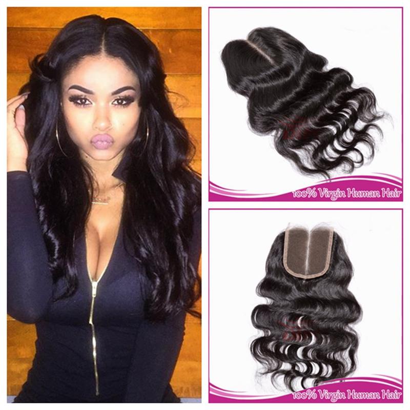 Гаджет  Cheap Brazilian Lace Closure Bleached knots Virgin Human Wavy Hair Closure 4x4 Body Wave Lace Closure Free Middle 3 Part Closure None Волосы и аксессуары