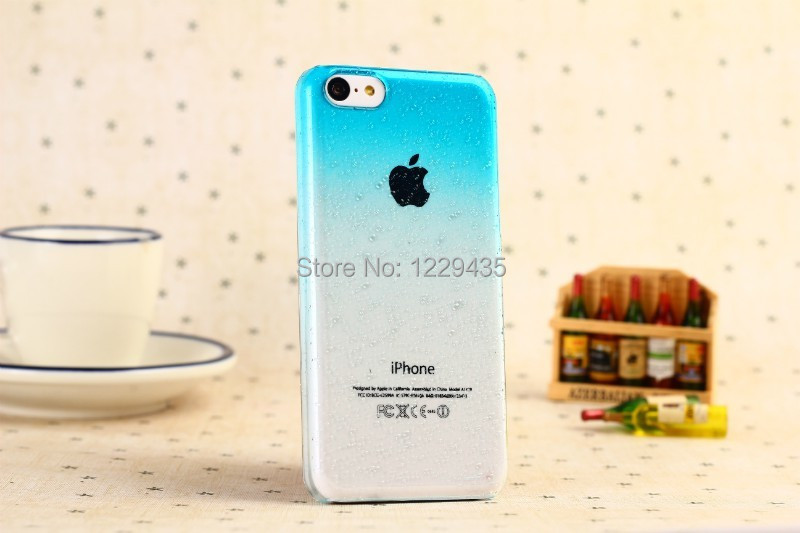 The new drop beads series sky blue mobile phone shell case for iphone 5 c 9 color 60007VLX(China (Mainland))
