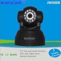 New P2P Plug&Play WiFi Wireless WPA Internet Dual Audio IR Night Vision PanTilt CCTV Security Webcam Network IP Camera WANSCAM