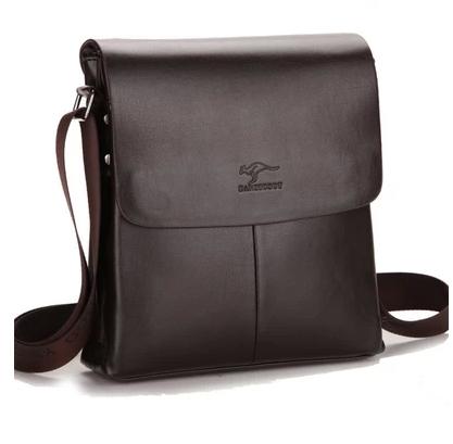 kangaroo man vertical genuine leather bag men messenger commercial men's briefcase designer handbags high quality shoulder bags(China (Mainland))
