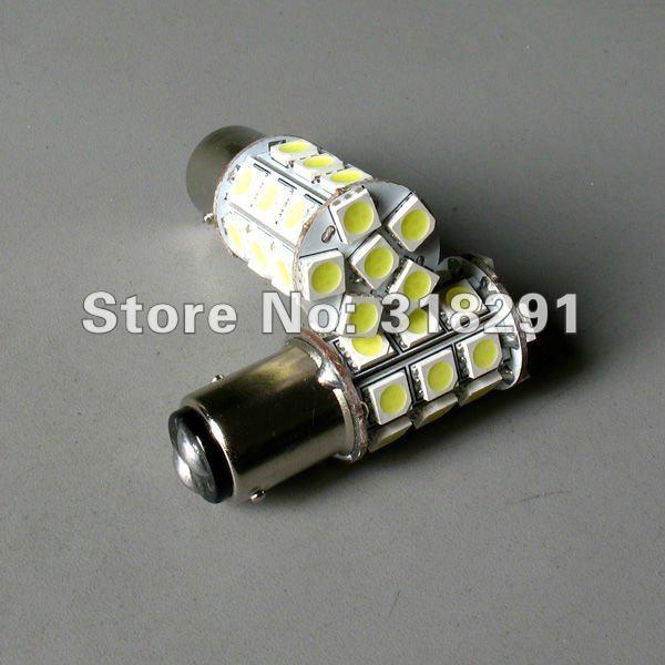 2pcs PY21W P21/5W S25 BAY15D 1157 27SMD 5050 LED bulb White/Red lamp car brake lights rear lights stop lights