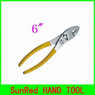 "SunRed BESTIR taiwan brand HIGH QUALITY yellow 6"" Slip Joint Plier Manufacturers high carbon Steel NO.10501 freeshipping(China (Mainland))"
