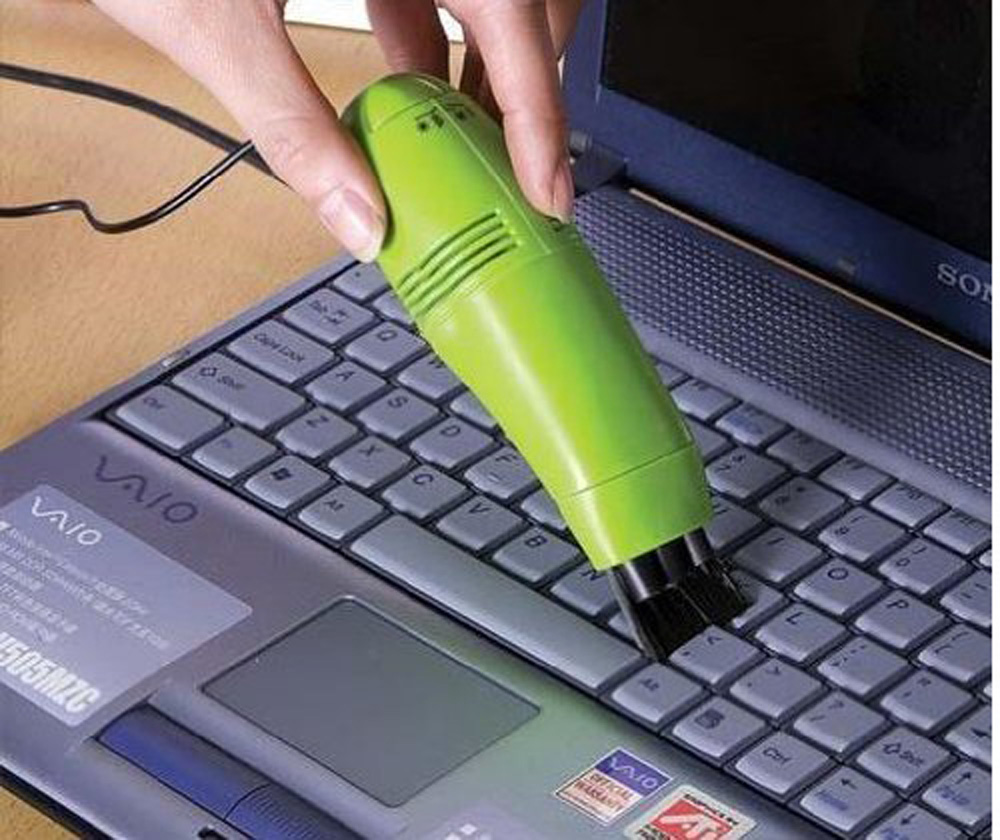 USA Delivery Green Mini Turbo USB Hoover Vacuum Cleaner for Laptop PC Computer Keyboard Gift(China (Mainland))