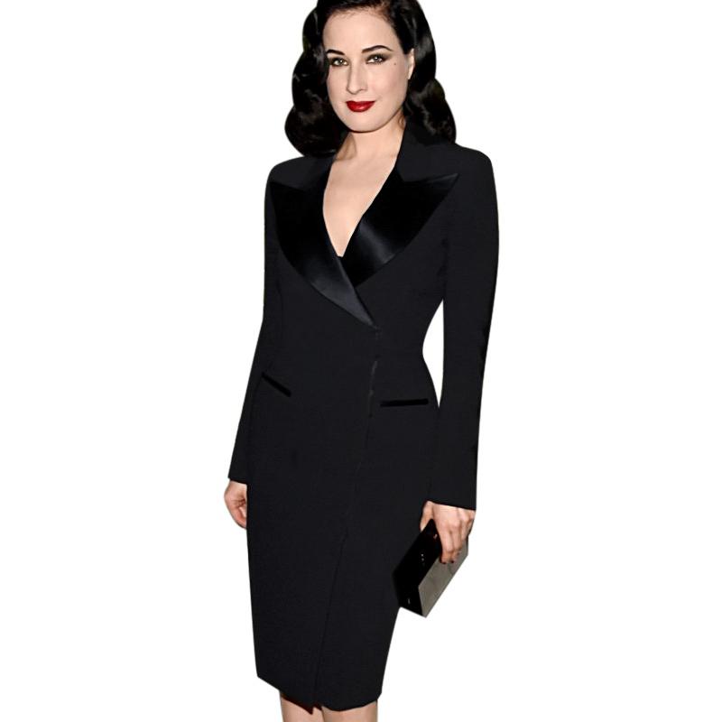 2016 Fashion Women Elegant Lapel Satin Turn-down Collar Zipper Wear to Work Office Business Sheath Solid Pencil Dress Plus SizeОдежда и ак�е��уары<br><br><br>Aliexpress
