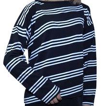 Buy New 2016 Women Tops Kpop Autumn Female T Shirt Harajuku Shirts Striped Long Sleeve T-shirt Ladies Clothing Loose Kawaii BF Top for $5.69 in AliExpress store