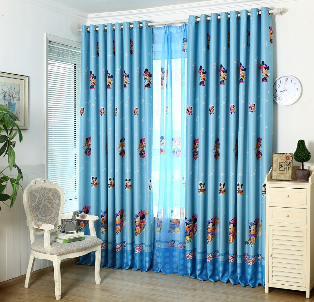 sunshade cloth curtain bedroom of children room cartoon mickey mouse