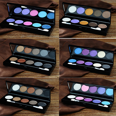 5 Colors Palette Makeup Face Eye Shadow Cosmetic Concealer Palette Each Smokey Eyes Eyeshadow Set(China (Mainland))