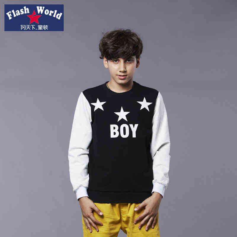 Children 39 S Wear Boy Long Sleeve Shirt With Korean Pure