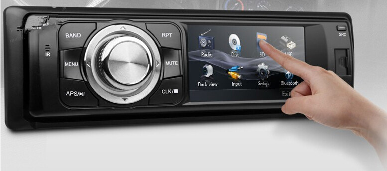 3 Inch Touch Screen 1 Din Car DVD Player One Din Car Audio Video Media Center Detachable Panel Radio Bluetooth USB SD Car Stereo(China (Mainland))