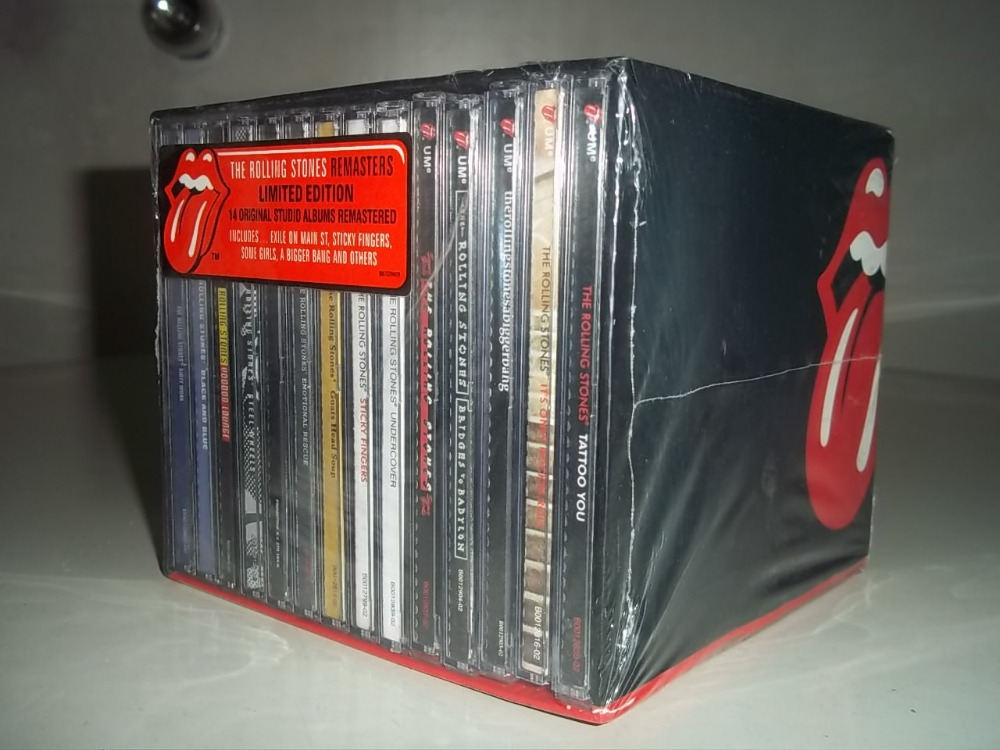 new the rolling stones 14cd box set free shipping in cd bags cases from consumer electronics. Black Bedroom Furniture Sets. Home Design Ideas