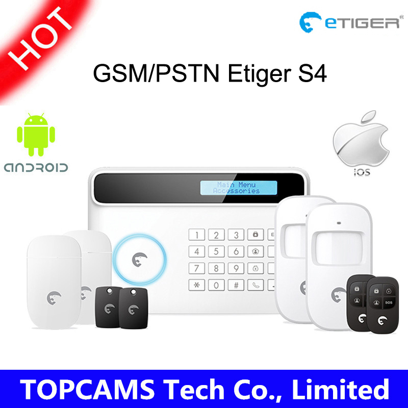 433Mhz Etiger S4 Wireless GSM/PSTN RFID Alarm System Home Security Protection burglar home Alarm System for IOS/Android(China (Mainland))