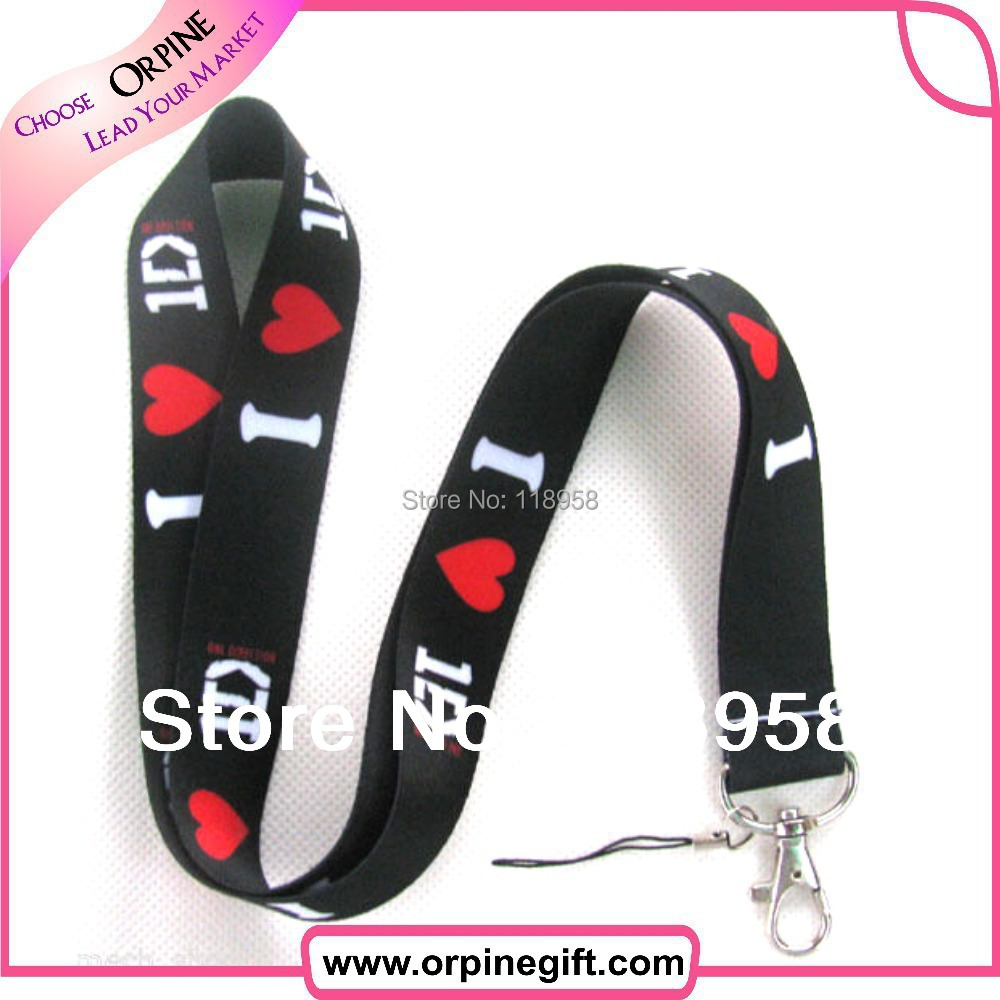 black lanyard one direction 10 promotion - New Technology Development Co., Ltd. store