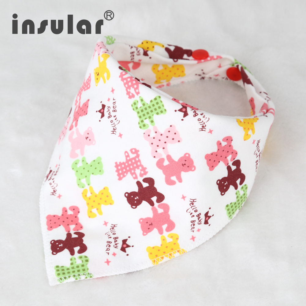 New Arrival 100% Cotton Fiber Newborn Bibs Cartoon Triangle Baby Bib Burp Cloth Infant Scarf(China (Mainland))