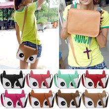 Fashion Women Cute Fox Owl Satchel Pu Leather Messenger Shoulder Bag Girls Handbag Cross Body Purse Y1(China (Mainland))
